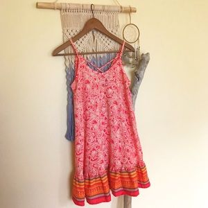NWT-Artee Couture-Red Paisley Style Loose Dress